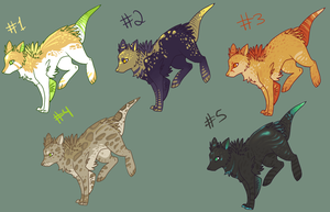 Even more adoptables CLOSED by AmburgurAndFries