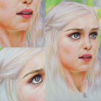 Daenarys Prismacolor Portrait by jessparry