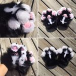 Black and White Paws for SmolRussian by DressedAllInFurWorks