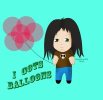 I gots balloons by Supercow321