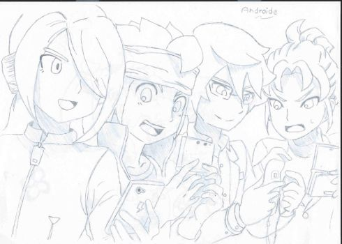 Playing Inazuma Eleven Go by Androide-Definitivo
