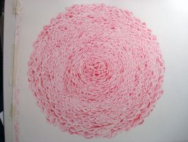 Rose in red ball point pen by PaulAlexanderThornto