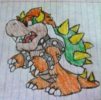 Mario: Paper Bowser by Konggers