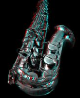 Anaglyph Saxophon I by MTolotos