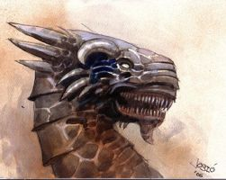 Dragonhead sketch by Josic