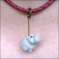 Hippo Necklace by Hippopottermiss