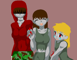 Emilie, Anna, and Lillith by Izayo-Fireheart