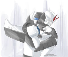 Black and White:Prowl and Jazz by Kuronyo