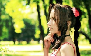 Last summer - KH Aerith by Narga-Lifestream