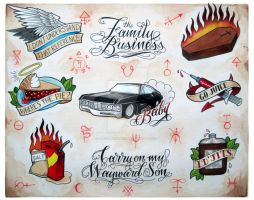 Supernatural Flash Sheet by Electricalivia