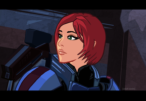 Mass Effect Cartoon Mock-Up 1 by Garrenh