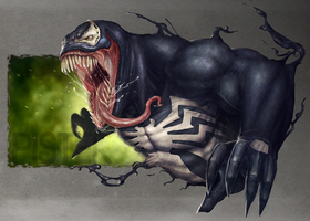 Venom Fan art 2 by RodgerPister
