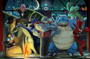 Pokemon Council Commission by Sabtastic
