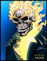 Ghost Rider colored by titaniumgorilla