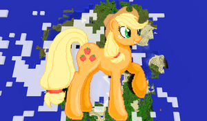 Applejack Minecraft by TheUnknown644