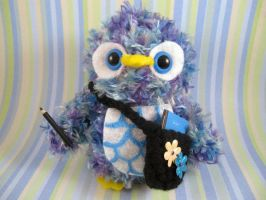 Amigurumi Back-to-School Owl by AmiTownCreatures
