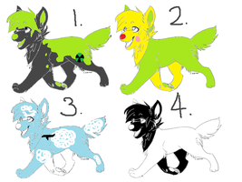 Wolf Adoptables #1 :OPEN: by OFPCAdoptables