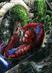 Spiderman vs Lizard ATC Colors by DKuang