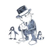 The Penguin - Quick Sketch by tyrannus