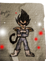 Vegeta Drawing by ZoruaAWESOME