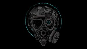 Machinima Gas Mask Wallpaper by GFX-ZeuS