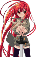 Flame haired Blazing eyed Hunter Shana by tobuei