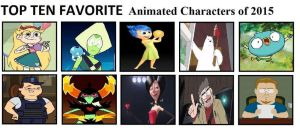Top Ten Favorite Animated Characters of 2015 by mlp-vs-capcom