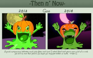 Then and Now: Goo Halloween by Gx3RComics
