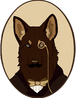 19th Century anthro portrait by WolfxNight