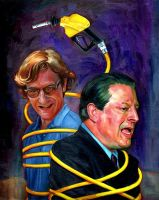 Al Gore and Chris Paine by carts