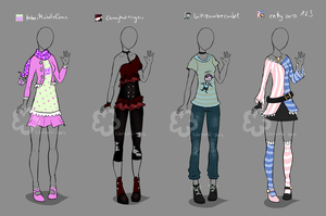 Icon inspired Outfits #1 by Nahemii-san