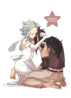 Fairy Tail Levy x  Gajeel by AirenSama