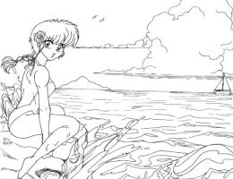 Retro Art: Ranma with a View by rioka