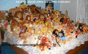 Bed full plushies of LionKing by MoondragonEismond