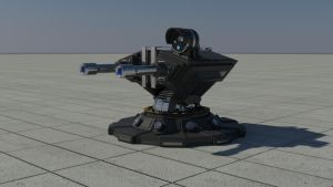 Automatic Defense Cannon by curux