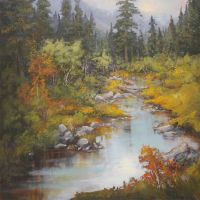 Kananaskis creek by artistwilder