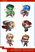 avengers chibi keychain by stawwi