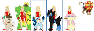 Pokemon Series: Colleen's team by Colleen15