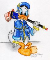 Donald Duck in Kingdom Hearts by jade-beaver