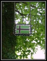 Vinland Flag Resin Necklace 4 by MissOctober13