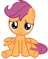 Scootaloo Sitting Sadly by DilettanteSucker