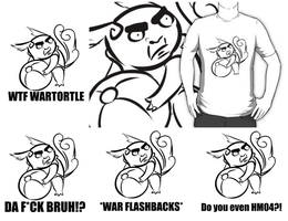 Wartortle Serious Face T-Shirts and other things by Abalisk