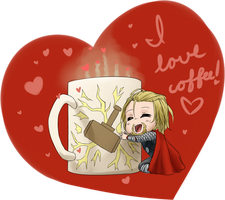 I Love Coffee! - Thor by dontevenknow-anymore