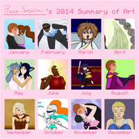 2014 Summary Of Art by Rose-Songstress