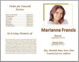 Plain White Theme Funeral Program Template Word by sammbither