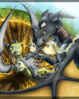 Impressive Fight by GoldenTigerDragon