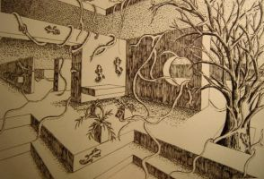 Pen and Ink Room. by Edifish