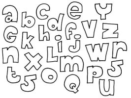 Doodle-ish Alphabet, 26 incl. by My-Chaste-Heart