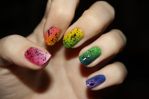 Rainbow Nail Design by lawyersloveandbones