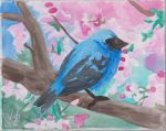 Bird and Blossoms by AionK23